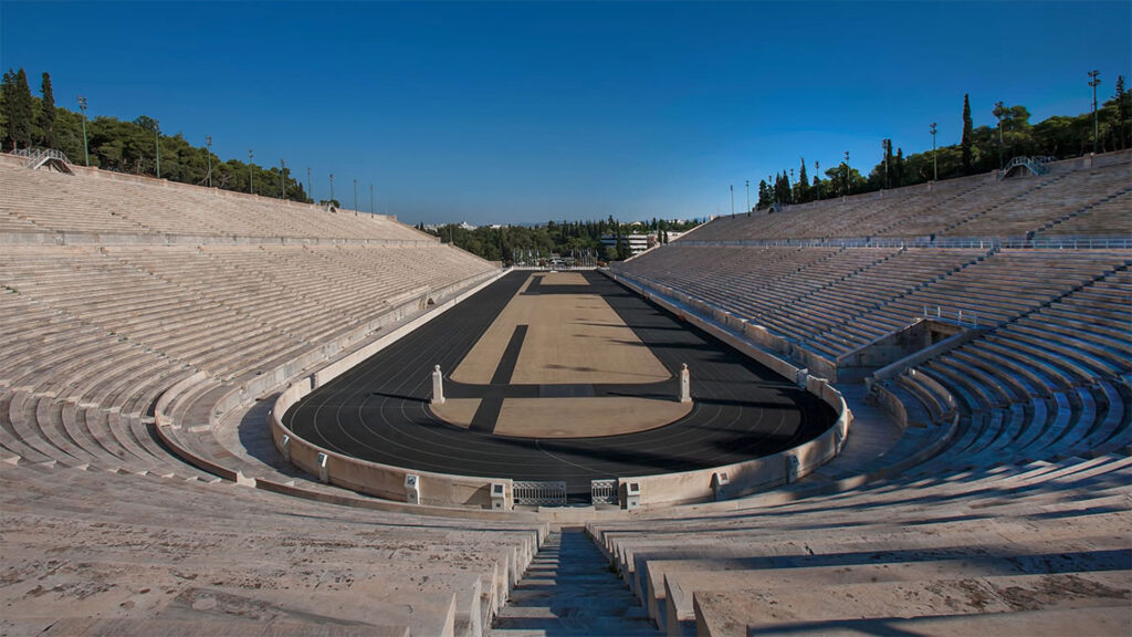 Our collectibles store is situated at the entrance of Panathenaic Stadium
