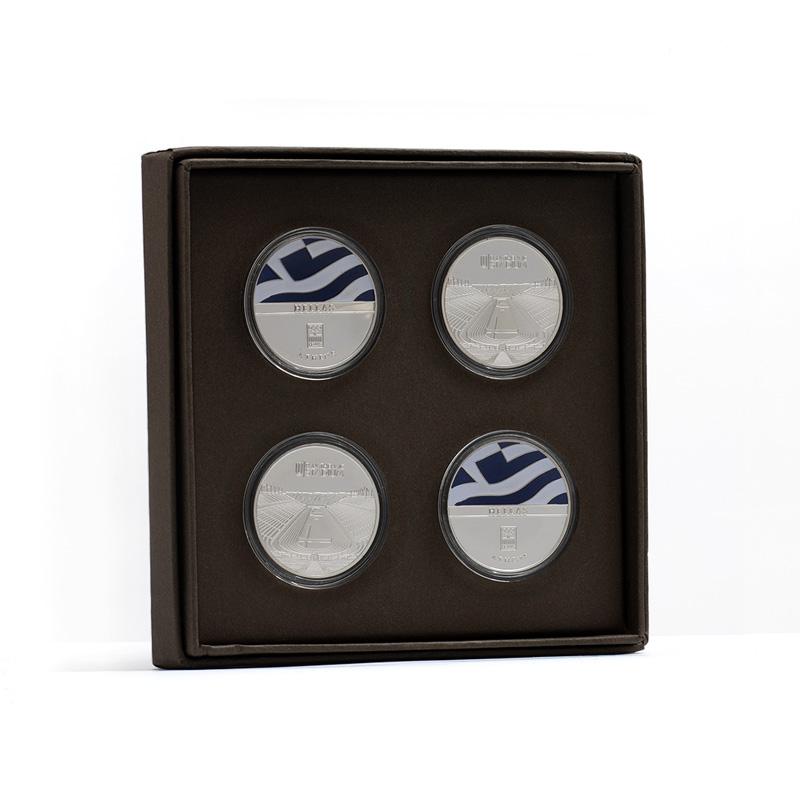 set of 4 pieces of Panathenaic Stadium Collectible Coin