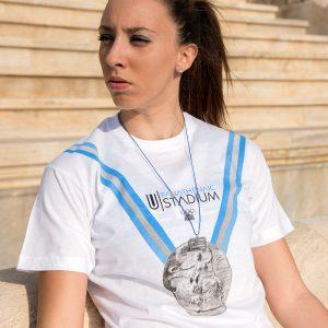 Olympic Medal Official T-shirt Collection Panathenaic Stadium Logo